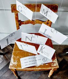 Denne idé er enkel: Skriv et par oplysninger om hver af gæsterne. Læg dem i hver sin kuvert, luk kuverterne, og fordel dem blandt gæsterne, som skal forsøge at finde ud af, hvem deres hemmelige person er.