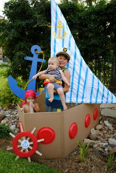 Sailor/nautical Birthday Party Ideas My boys nautical/sailor birthday party Sailor Birthday, Sailor Party, Pirate Birthday, Pirate Theme, Boy Birthday Parties, Birthday Boys, Sailor Theme, Diy Birthday, Birthday Ideas