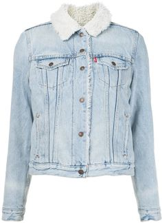 10 stylish denim jackets to shop now and wear from summer to fall: Denim Jacket Fashion, Levi Denim Jacket, Blazer Jacket, Denim Jackets, Outerwear Jackets, Jean Jackets, Blue Jeans, Denim Jeans, Blue Denim
