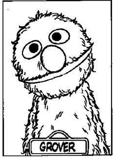 1000 images about grover on pinterest sesame streets for Grover sesame street coloring pages
