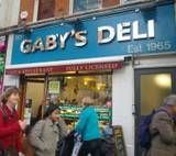 Gaby's Deli. Vegetarian/ Kosher/ Mediterranean/ Greek kebabs diner with lots of fresh salad.  Charing Cross Road, Central London  For as little as £5! Can hardly believe it!