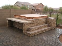 Hot Tub Landscaping Surround | what is the cost of a spa surround depending on the spa surround model ...