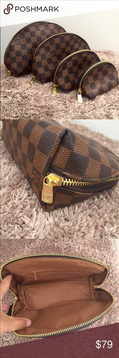 a25933f6af3 Brand new LV 4 set cosmetic bags. Brand new LV 4 set cosmetic bags. NOT  authentic Bags Cosmetic Bags   Cases
