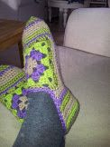 Slippers-crochet. Made by me:-)