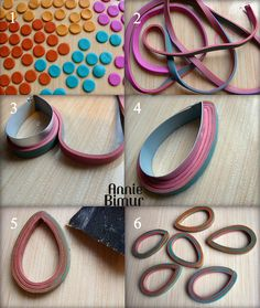 tutorial from Annie bimur for her pendant frames!