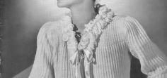 Learn to Knit or Crochet Vintage Bed Jackets - Vintage Patterns Dazespast Blog