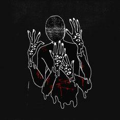 All lives end, all hearts are broken Dark Art Illustrations, Illustration Art, Character Art, Character Design, Vent Art, Sad Art, Arte Horror, Creepy Art, Aesthetic Art