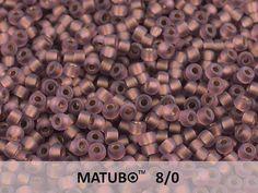 10 g Amethyst Bronze Ice Lined Czech MATUBO Seed
