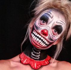 Halloween Makeup - Inked Magazine. So creepy! I wouldn't be able to hand out candy to the kids