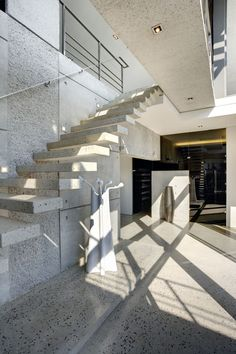 idea for concrete stair with spots