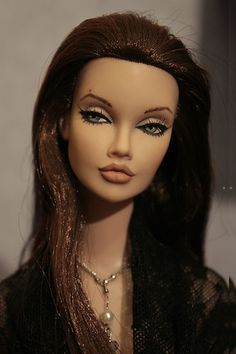 "OOAK Fashion Royalty Angelina Jolie Poppy Parker 16"" Repaint P de Morcey"