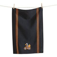 Tag Embroidered Skeleton Dish Towel