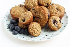 These whole grain Blueberry Banana Muffins are made with oats and lots of fruit, so they're a delicious breakfast option for the entire family. They store well in the fridge so go ahead and make them in advance!