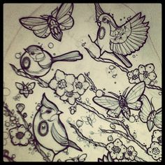 Spring??? #spring #tattoo #tattoos #ink #sketch (Scattata con Instagram)