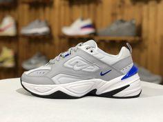 ead7343dde5bd3 2019 Nike M2K Tekno Wolf Grey Racer Blue Men Chunky Daddy Shoes