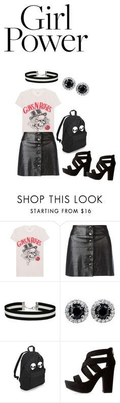"""Vintage punk rock"" by kariah-humston ❤ liked on Polyvore featuring MadeWorn, Chanel, Miss Selfridge, Bamboo and vintage"