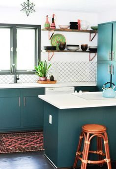 This Creative Renovated Her Dream Kitchen, For Less Than $8,000