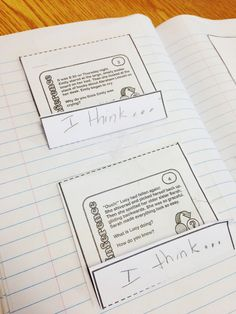 Task Cards in Notebooks!
