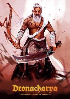 Kamal as Dronacharya - Kollywood Mahabharata Poster Character Sketches, Character Illustration, Art Sketches, Character Art, Krishna Hindu, Hindu Deities, Shiva, Indian Illustration, The Mahabharata