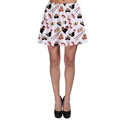CowCow Colorful Pattern with Japanese Food Skater Skirt >>> AMAZON Great Sale