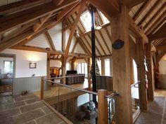 oak framed open plan living area by Carpenter Oak