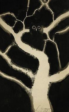 Leon Spilliaert: Hibou, 1918.