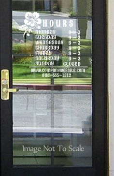 Hours Sign Stickertitanscom Custom Business Office Shop - Window decals for business atlanta