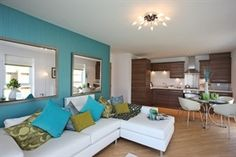 Living Area, Living Spaces, Living Room, Sofa, Couch, Home And Garden, Jade Green, Inspiration, Furniture