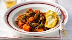 A vegetarian take on the gumbo that combines authentic okra with trendy sweet potato. Serve with sweet cornbread muffins.