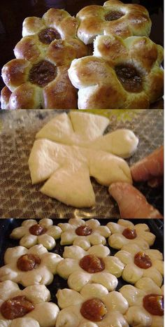 This Pin was discovered by Lis Sweet Pastries, Bread And Pastries, Bread Recipes, Cooking Recipes, Bread Shaping, Russian Recipes, Food And Drink, Yummy Food, Cookies