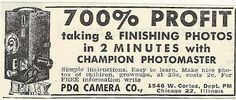 1950s ad: 700% Profit Taking and Finishing Photos