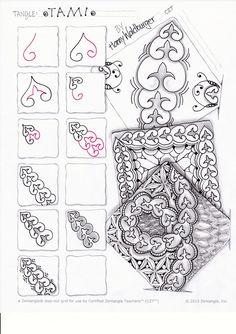 "Mein neustes Muster: ""Tami"" - My new pattern ""Tami"" - Zenjoy Zentangle ® Zürich Schweiz"