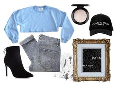 """""""dark water"""" by victoria-brammeby ❤ liked on Polyvore featuring Charles David, Bobbi Brown Cosmetics, MAC Cosmetics, Marc by Marc Jacobs and Manolo Blahnik"""