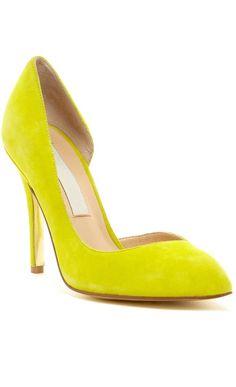 #shoes #heels #neon #yellow #pretty