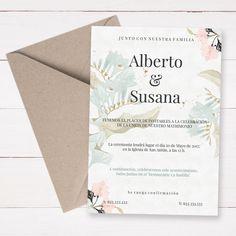 invitación de boda imprimible Elegance. Plantilla para crear tus invitaciones de boda. Cambia los textos e imprímela fácilmente.