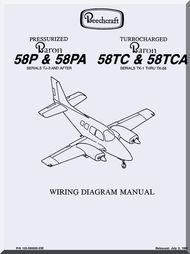 Beechcraft Baron 58 P PA TC TCA Aircraft Wiring Manual
