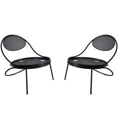 Pair of 'Copacabana' Chairs by Mathieu Mategot  France  c. 1950