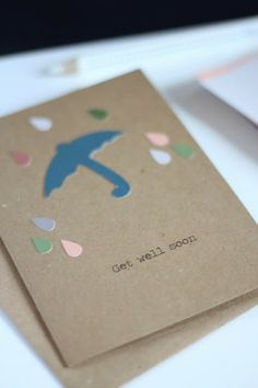 Get well soon card DIY  http://beingoncloudnine.blogspot.de/2013/11/get-well-soon-card-diy.html