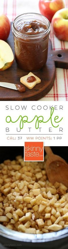 Slow Cooker Apple Butter is like a spreadable apple pie! Perfect to make this…