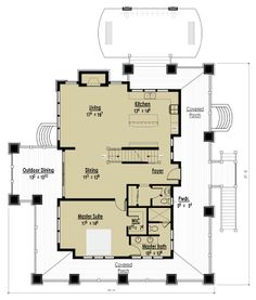 2+ bed 2 1/2 bath floor plan.  I do like it in general but it is too big.  Adorable Hillside Cottage | The Red Cottage