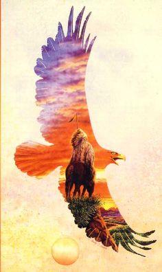 beautiful native american watercolor paintings | Native American Lore for December