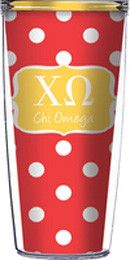 Chi Omega Tumbler (includes clear lid and straw) from South Bound Sisters