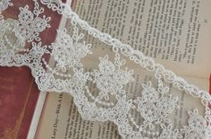 Beige+Cotton+Embroidery+Tulle+Gauze+Lace+Trims+by+Lacebeauty,+$4.99