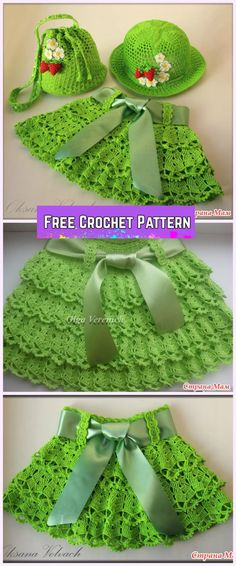 Crochet Girl's Skirt & Hat Set Free Pattern