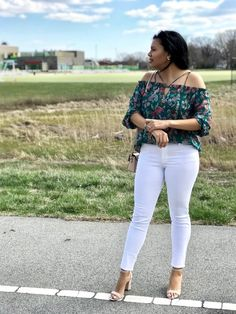 Happy Thursday! I think you guys are going to get sick of seeing this blouse because I will be wearing it all Spring and Summer! It's just so pretty. I paired it here with white denim for an easy outfit for any event. It's available at Target and I linked this outfit on the blog. Link in bio.  #ShopStyle #shopthelook #SpringStyle #SummerStyle #MyShopStyle #BirthdayParty #FestivalLooks #WeekendLook #DateNight #GirlsNightOut #OOTD