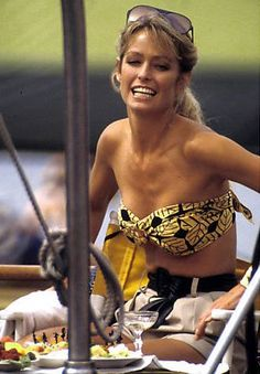 """""""God gave women intuition femininity. Used properly, the combination easily jumbles the brain of any man I've ever met."""" Farrah Fawcett"""