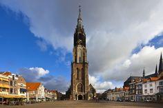 De Markt en de Nieuwe Kerk in Delft