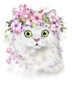 Find Cute Watercolor Cat Illustration Tshirt Print stock images in HD and millions of other royalty-free stock photos, illustrations and vectors in the Shutterstock collection. Watercolor Cat, Watercolor Animals, Watercolor Flowers, Baby Animal Drawings, Cutest Cats Ever, Floral Illustrations, Cat Drawing, Pet Portraits, Cat Art