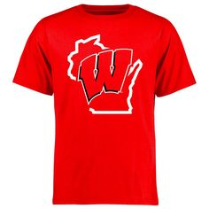 Wisconsin Badgers College Tradition State Short Sleeve T-Shirt - Red - $17.59
