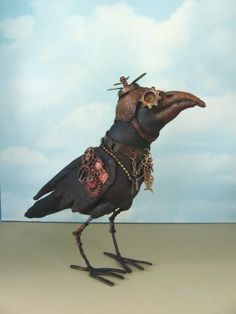 Steampunk Crow - would love to make an entire tree full of variations of this